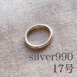 silver990 リング 17号 シルバー990 メンズ リング 指輪 新品(リング(指輪))