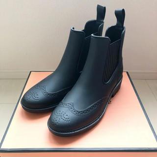 レディース レインブーツ 防水 ショート ブーツ ブラック 23 新品