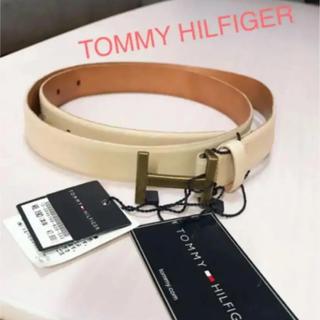 TOMMY HILFIGER - TOMMY HILFIGER❤︎薄ベージュ Hバックルベルト 新品