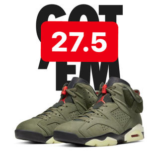 NIKE - air jordan 6 travis 27.5cm