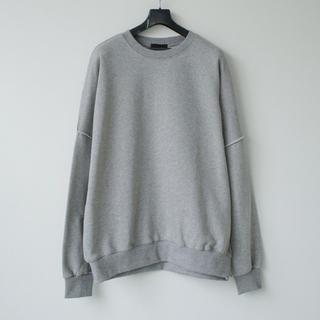 ラフシモンズ(RAF SIMONS)のCOLN  out stitch over sweatshirt (グレー)(スウェット)