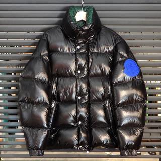 モンクレール(MONCLER)の新品同様 モンクレール ダウン ジャケット メンズ デカロゴ ブラック 黒(ダウンジャケット)
