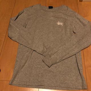 ステューシー(STUSSY)のステューシー グレー ロングtシャツ ロンt stussy(Tシャツ/カットソー(七分/長袖))