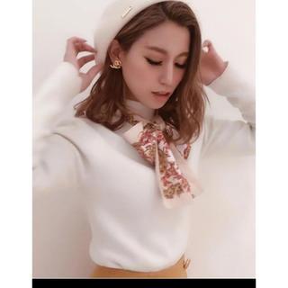 eimy istoire - エイミーイストワール スカーフデザインニットプルオーバー ホワイト