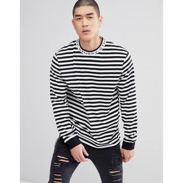 STUSSY(ステューシー)のStussy/Jacquard Neck Long Sleeve Tee メンズのトップス(Tシャツ/カットソー(七分/長袖))の商品写真