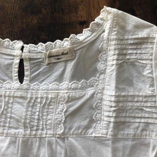 サマンサモスモス(SM2)のSM2*半袖裾レーススクエアネックカットソー(カットソー(半袖/袖なし))
