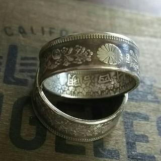 コインリング 旭日50銭 20号 シルバーリング(リング(指輪))