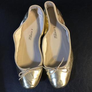 DEUXIEME CLASSE - ポルセリ バレエシューズ 39 ゴールド フラットパンプス 靴