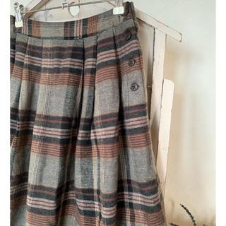 SM2 - SM2 チェック柄 脇釦スカート チャコール