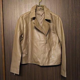 ジーユー(GU)のGU ジーユー フェイク レザー ジャケット XL(ライダースジャケット)