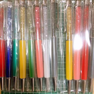 クリスタル結晶ボールペン 12本セット(各種パーツ)