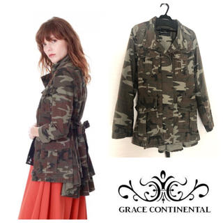 GRACE CONTINENTAL - バックフリルジャケット ミリタリー38サイズ