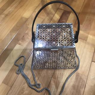ZARA - ZARAグリッターディールクリアバケットバッグ