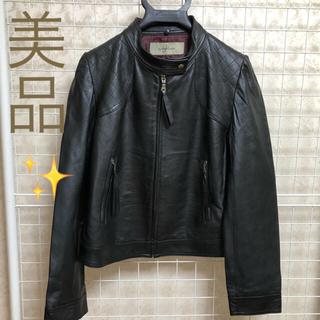 柔らかな革。ラムレザーライダースジャケット ブラック