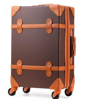 スーツケース 小型 おしゃれ 機内持ち込み 超軽量 s トランク ブラウン
