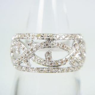K18WG ダイヤモンド リング 14.5号[f73-6](リング(指輪))