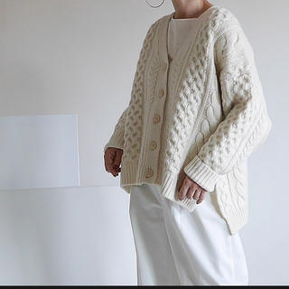 DEUXIEME CLASSE - argue  WOOL CABLE WIDE KNIT CARDIGAN
