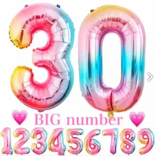 SALE‼️ BIG 数字 レインボーナンバー  お誕生日