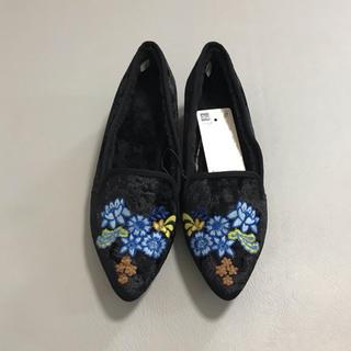 ジーユー(GU)の【新品未使用】 GU ジーユー エンブロイダリーオペラシューズ(ローファー/革靴)