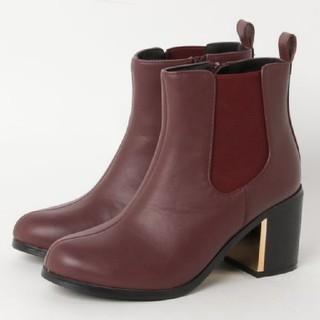 セシルマクビー(CECIL McBEE)のCECIL McBEE  メタルパーツ付きサイドゴアブーツ  size M (ブーツ)