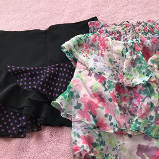 ZARA - スカート 2枚 シルク