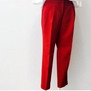 ENFOLD - ENFOLD パンツ スラックス レッド エンフォルド 赤