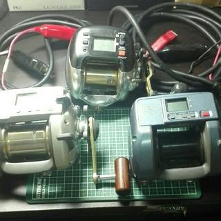 SHIMANO - シマノ 電動 リール 3台 セット コード 付き