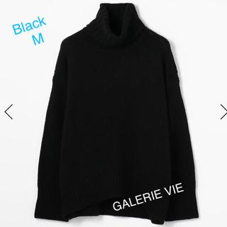TOMORROWLAND - ☆ 2019a/w GALERIE VIEファインウールタートルニット☆黒☆M