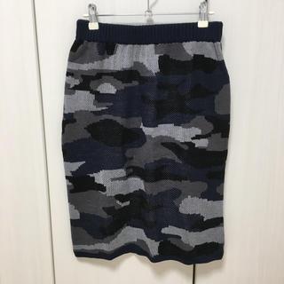 ベルーナ(Belluna)の迷彩柄スカート 未使用(ひざ丈スカート)