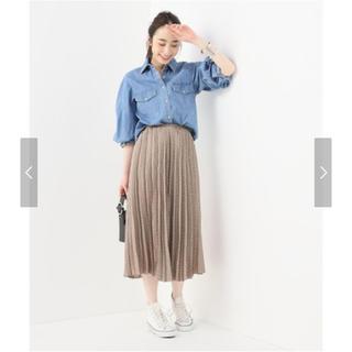 Spick and Span - スピックアンドスパン ドットプリーツマキシスカート フレアスカート