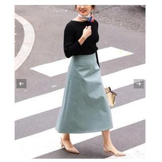 2019  IENA  サテントラペーズスカート☆ロングスカート 34