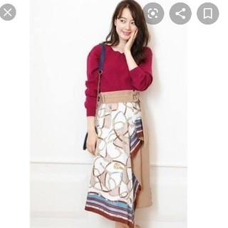 JUSGLITTY - JUSGLITTY♡スカーフプリントスカート♡ベージュ
