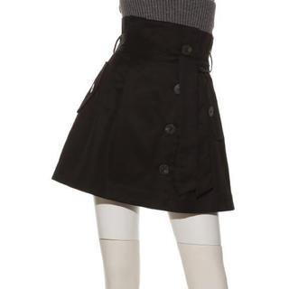 スナイデル(snidel)のスナイデル トレンチデザインミニスカート ブラック(ミニスカート)