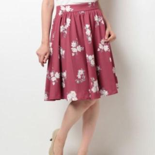 トランテアンソンドゥモード(31 Sons de mode)の31 sons mode オリジナル花柄プリント フレアスカート(ひざ丈スカート)
