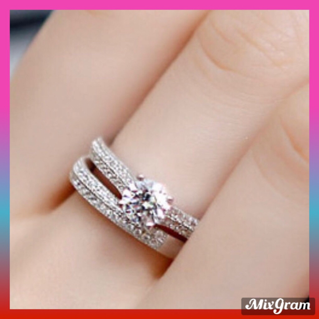 SWAROVSKI(スワロフスキー)の✨定価6980円✨★SWAROVSKI★ジェム リング 指輪 2点 K18GP レディースのアクセサリー(リング(指輪))の商品写真