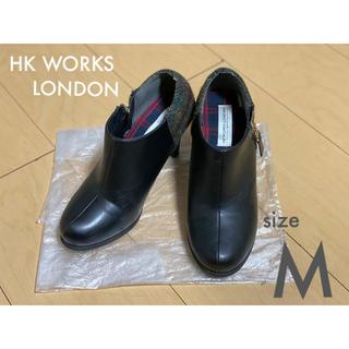 HK WORKS LONDON ブーティ ヒール ショートブーツ(ブーティ)