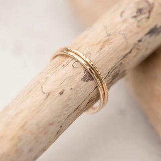 14kgf シルバー ピンクゴールド/指輪 ピンキー リング シンプル 華奢(リング(指輪))