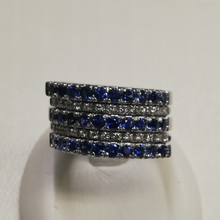 K18WGサファイアダイヤリング《新品》(リング(指輪))