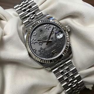 ROLEX - Rolex 銀灰模様自動機械女子時計