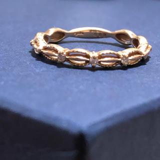 アガット(agete)のagete K10 ダイヤモンド ドレス リング(リング(指輪))