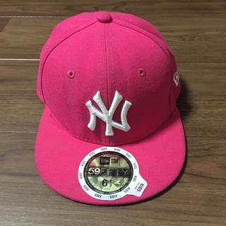 ニューエラー(NEW ERA)のNEW ERA ピンク 52センチ(帽子)