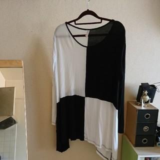 白黒ビッグロンT(Tシャツ(長袖/七分))