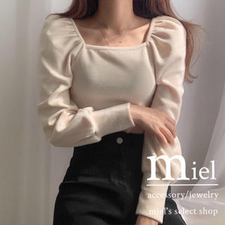 snidel - puff sleeve square neck tops/パフスリーブ トップス