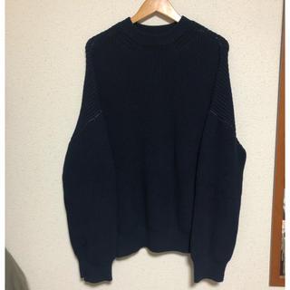 UNUSED - 18ss UNUSED 5G Crew Neck Knit サイズ1 ネイビー