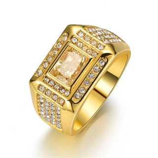 ゴールド リング 29号 メンズ ブリンブリン ヒップホップ ジルコニア(リング(指輪))
