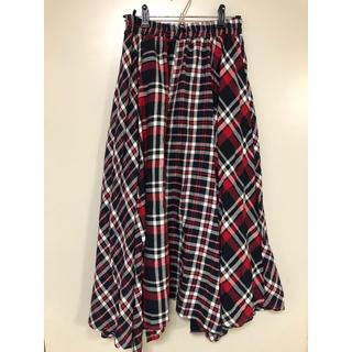 しまむら - しまむら チェック マキシ丈スカート  Mサイズ