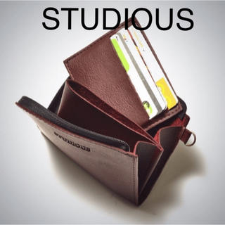 STUDIOUS - STUDIOUS  カードケース付き レザーウォレット 付録 レア!