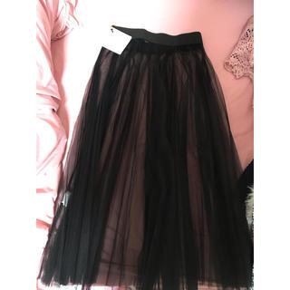リルリリー(lilLilly)のリルリリー チュールスカート 新品未使用(ひざ丈スカート)