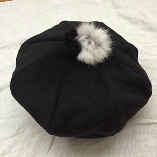 アースミュージックアンドエコロジー(earth music & ecology)のearthのぽんぽん付きベレー帽(ハンチング/ベレー帽)