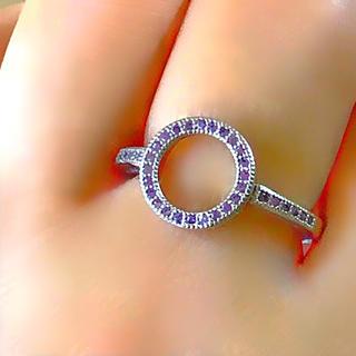 【11号:1点限】Circle ring ラベンダーカラー水晶 SV925リング(リング(指輪))